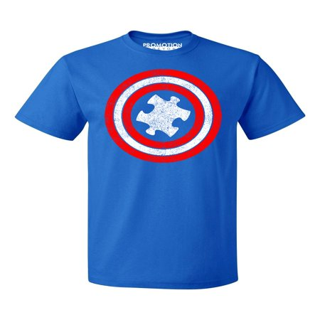 Ant Shield (Captain Autism Red and Blue Hero Shield Men's T-shirt, S, Royal )