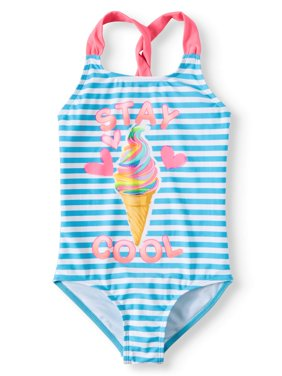 Stay Cool Striped One-Piece Swimsuit (Little Girls & Big Girls)