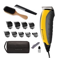 Remington Virtually Indestructible Barbershop Clipper, 15-piece Haircut Kit, Yellow, HC5855