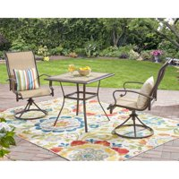 Mainstays Wesley Creek 3-Piece Outdoor Bistro Set with Swivel Chairs