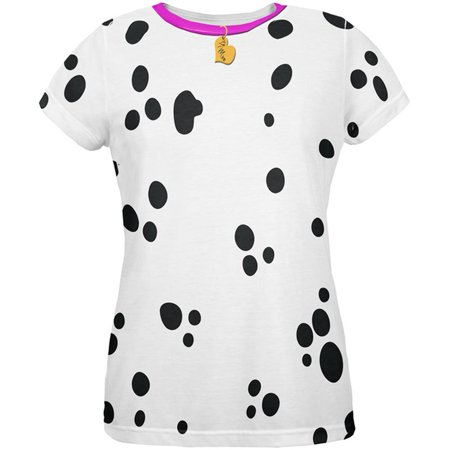 Valentine's Day Dog Dalmatian Costume Pink Collar Be Mine All Over Womens T Shirt - Valentine Costume