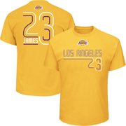 c4942cb94dd Men s Majestic LeBron James Gold Los Angeles Lakers Spirited Competitor  Player Name   Number ...
