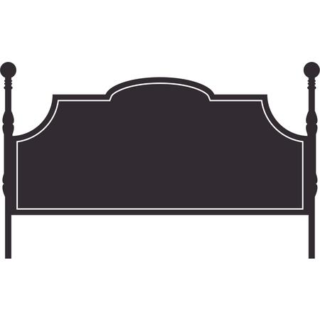 Black Victorian Vinyl Headboard Decal - Large - Black ()