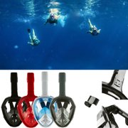 Anti-Fog Swimming Diving Full Face Mask Surface Snorkel Scuba for GoPro S/M