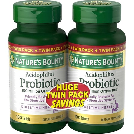 Nature's Bounty Acidophilus Probiotic Dietary Supplement Tablets, 200 (Best Nature's Way Probiotics For Women)