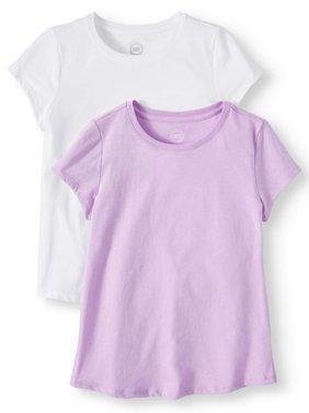 Girls' Crew Neck T-Shirts 2-Pack