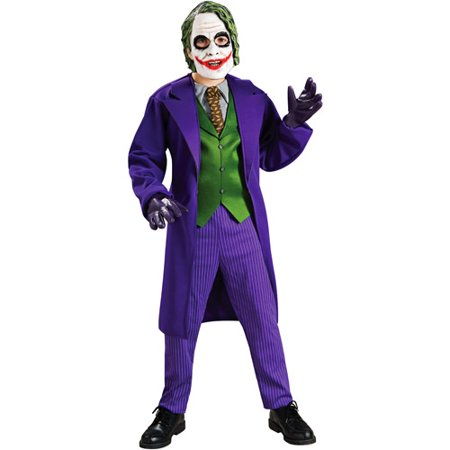 Batman The Joker Deluxe Child Halloween Costume](Diy Batman Costume Kids)