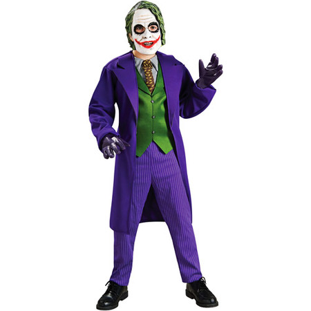 Batman The Joker Deluxe Child Halloween Costume](Batman Costume Ideas)