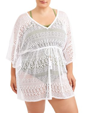 Women's Plus Crochet Cover-Up