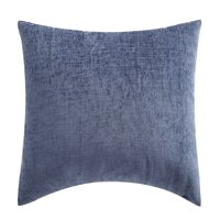 "Mainstays Chenille Oblong Decorative Throw Pillow, 14"" x 20"", Blue"