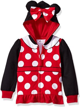 Minnie Mouse Girl's Graphic 3D Ear Costume Hoodie