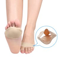 Pair Fabric Silicone Ball of Foot Pads Insoles Metatarsal Cushion Pad Sore Forefoot Support