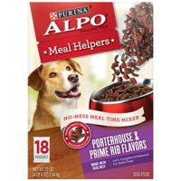 Purina ALPO Meal Helpers Porterhouse & Prime Rib Flavors Dog Food Mixer, 4 Oz Pouch, Case of 18