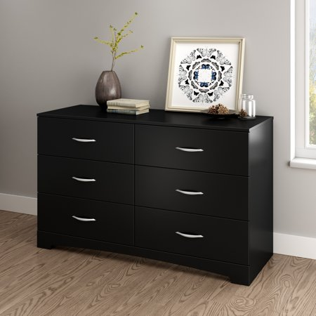 South Shore SoHo 6-Drawer Double Dresser, Multiple Finishes Dining Room Oak Dresser