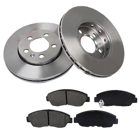 [Front Kit] 296mm Brake Rotors & Metallic Pads For 2007 Toyota Camry