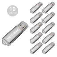KOOTION 10Pcs 4GB USB Flash Drive Memory Stick Fold Storage Thumb Pen Drive Swivel in Silver
