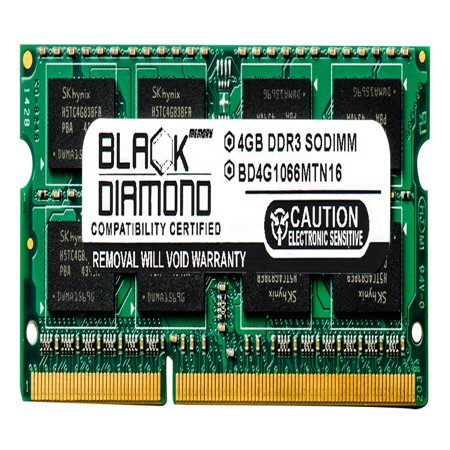 4GB Memory RAM for Acer Aspire Notebooks 5740-5847, 5740-6025, 5740-6378, 5740-6491, 5740DG-334G32Mn 204pin PC3-8500 1066MHz DDR3 SO-DIMM Black Diamond Memory Module (1066 Mhz Ddr3 Notebook Memory)