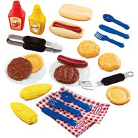 Little Tikes Backyard Barbeque, 26 Piece Grillin' Goodies