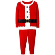 42127a3323 Holiday Boys 2-Piece Red Santa Claus Christmas Sleepwear Pajama Set
