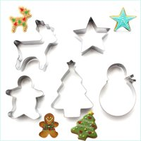5PCS/Lot Christmas DIY Cookie Cutter Fondant Biscuits Molds Baking Moulds Stainless Steel Metal Frame Shape Baking Tools
