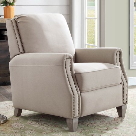 Better Homes Gardens Pushback Recliner Taupe Fabric Upholstery