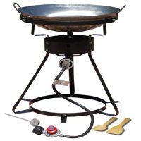 "King Kooker #24WC 24"" Portable Propane Outdoor Cooker with 18"" Steel Wok"