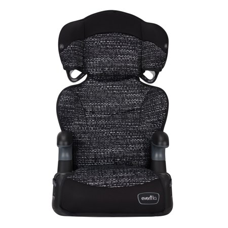 Black Child Seat (Evenflo BIg Kid LX High Back Booster, Static Black )