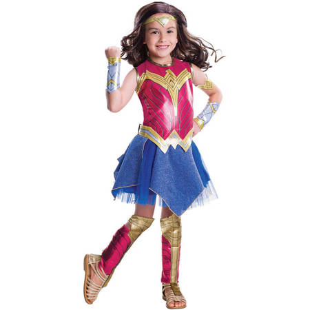 Batman Vs Superman: Dawn of Justice Deluxe Wonder Woman Child Halloween Costume (Halloween Costumes For Three Girls)