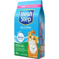 Fresh Step Non-Clumping Premium Cat Litter with Febreze Freshness, Scented - 14 lbs