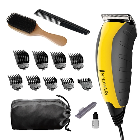 Remington Virtually Indestructible™ Haircut and Beard Trimmer, Yellow, (Best Vacuum Beard Trimmer)