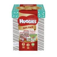 HUGGIES Gift Pack: Newborn Diapers + Size 1 Diapers + Huggies Natural Care Wipes