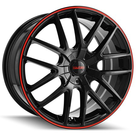 Rib Wheel - Touren TR60 16x7 5x110/5x115 +42mm Black/Red Wheel Rim 16