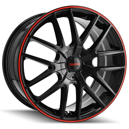 Touren TR60 16x7 5x110/5x115 +42mm Black/Red Wheel Rim 16