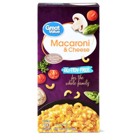 - (6 Pack) Great Value Gluten-Free Macaroni & Cheese, 6 oz