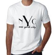 762a2f8a4 NYC New York City Stylish Large Font Men's T-Shirt