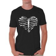 24cf5f11092d6 Awkward Styles Heart Ribcage T-shirt Tops skull shirts womens mens skull  shirts day of