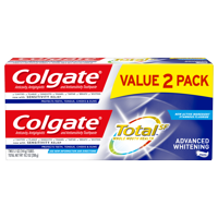 Colgate Total Whitening Toothpaste, Advanced Whitening, 5.1 oz. 2-pack- Paste