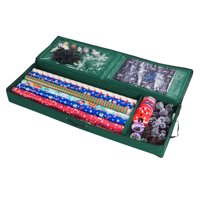 Elf Stor | 30 Inch | Wrapping Paper, Ribbon and Bows Organizer | Green