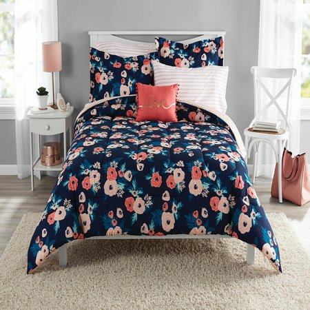 Floral Bedding - Mainstays Garden Floral Bed in a Bag Bedding