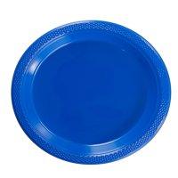 """Exquisite 7"""" Disposable Plastic Plates Bulk - 100 Count Party Pack - Premium Plastic Disposable Dessert/Salad Plates, Clear"""