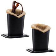 e8c2a43431d Smart Essentials 2 Pack Black Upright Eyeglasses Holder Stand Soft Plush  Lining Case Rest For Desktop