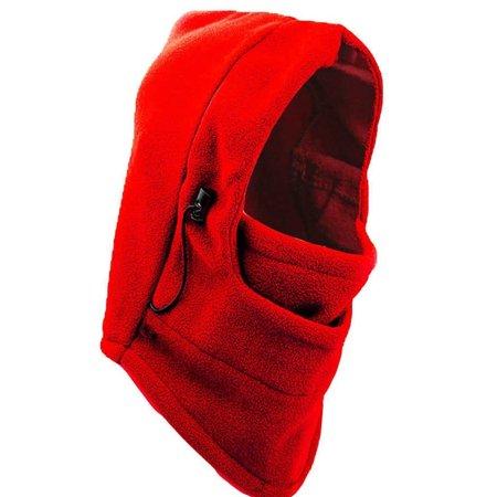 IGIA Multifunction Thermal Fleece Balaclava Hood Ski Snowboarding Mask Sports Hat Headwear - Red - Red Hood Domino Mask