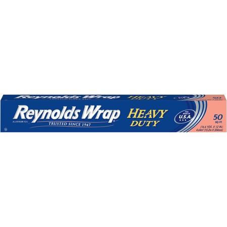(2 pack) Reynolds Wrap Heavy Duty Aluminum Foil (50 Square Foot (Freezer Roll Paper)