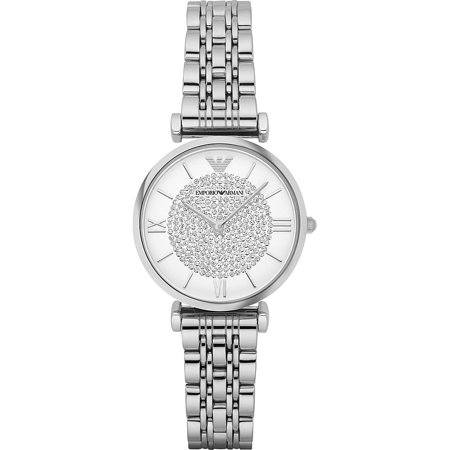 Emporio Armani Women's Retro Stainless Steel Watch (Planisphere Watch)