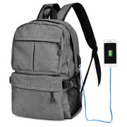 Oxford Backpack Large Capacity Computer Backpacks Lightweight School  Shoulder Bag Casual Daypack with Charging Port c18e5e5fecad9