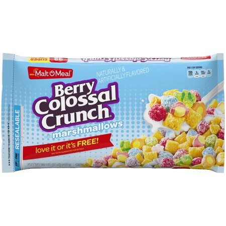 Malt-O-Meal Cereal, Berry Colossal Crunch, Marshmallows, 32 Oz, Bag ()
