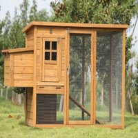 """Lovupet 72""""  Deluxe Wooden Chicken Coop Backyard Nest Box Pet Cage Rabbit Hen Hutch 0709"""