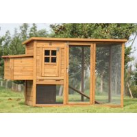 "Lovupet 72""  Deluxe Wooden Chicken Coop Backyard Nest Box Pet Cage Rabbit Hen Hutch 0709"