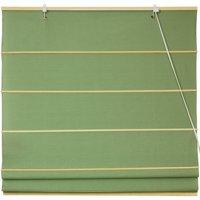 Cotton Roman Shades, Light Green
