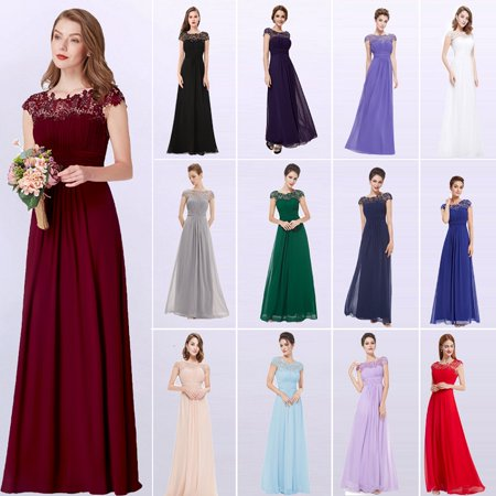 Dresses For Tweens Formal (Ever-Pretty Womens Vintage Floral Lacey Long Formal Evening Party Prom Dresses for Women 99933 Burgundy)